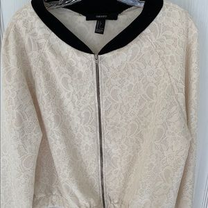 Nice lace zip up Jacket NWOT